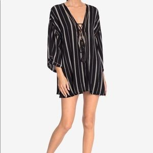 Robin piccone Claire lace-up cover-up tunic